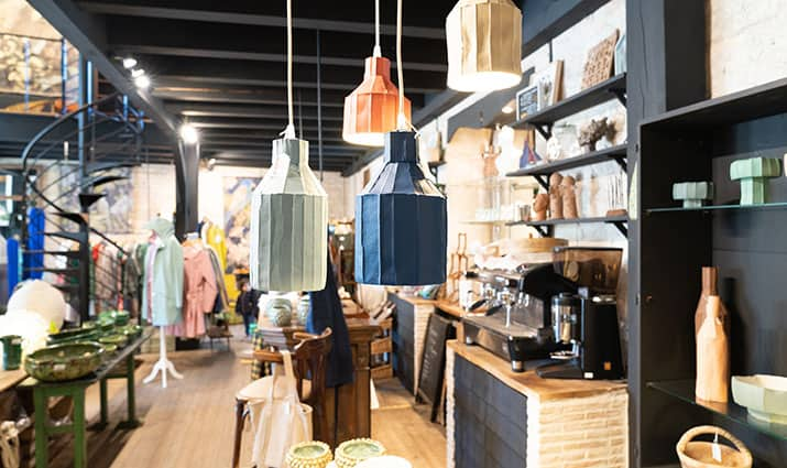 arredamento vintage negozio abbigliamento